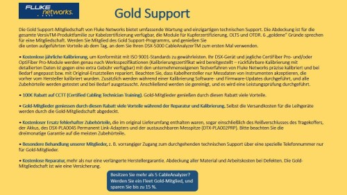Fluke Networks Gold Support Vertrag GLD-CFP-Q-ADD-R