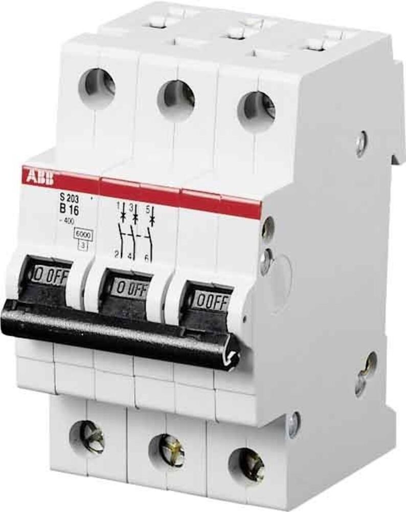 ABB Stotz S&J Sicherungsautomat 10kA 16A C 3p S203M-C16