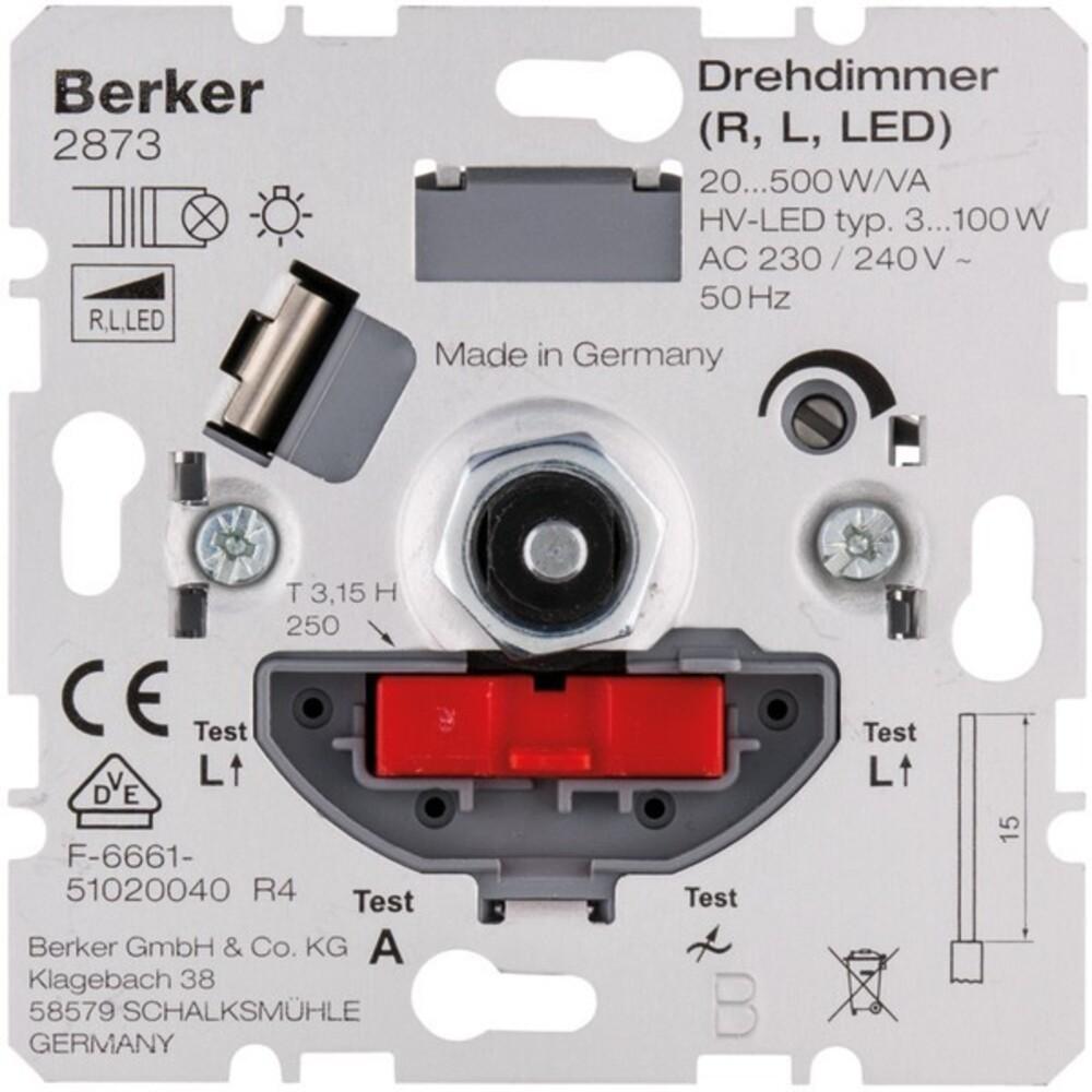 berker drehdimmer 20 500w va 2873 elektroartikel online shop. Black Bedroom Furniture Sets. Home Design Ideas