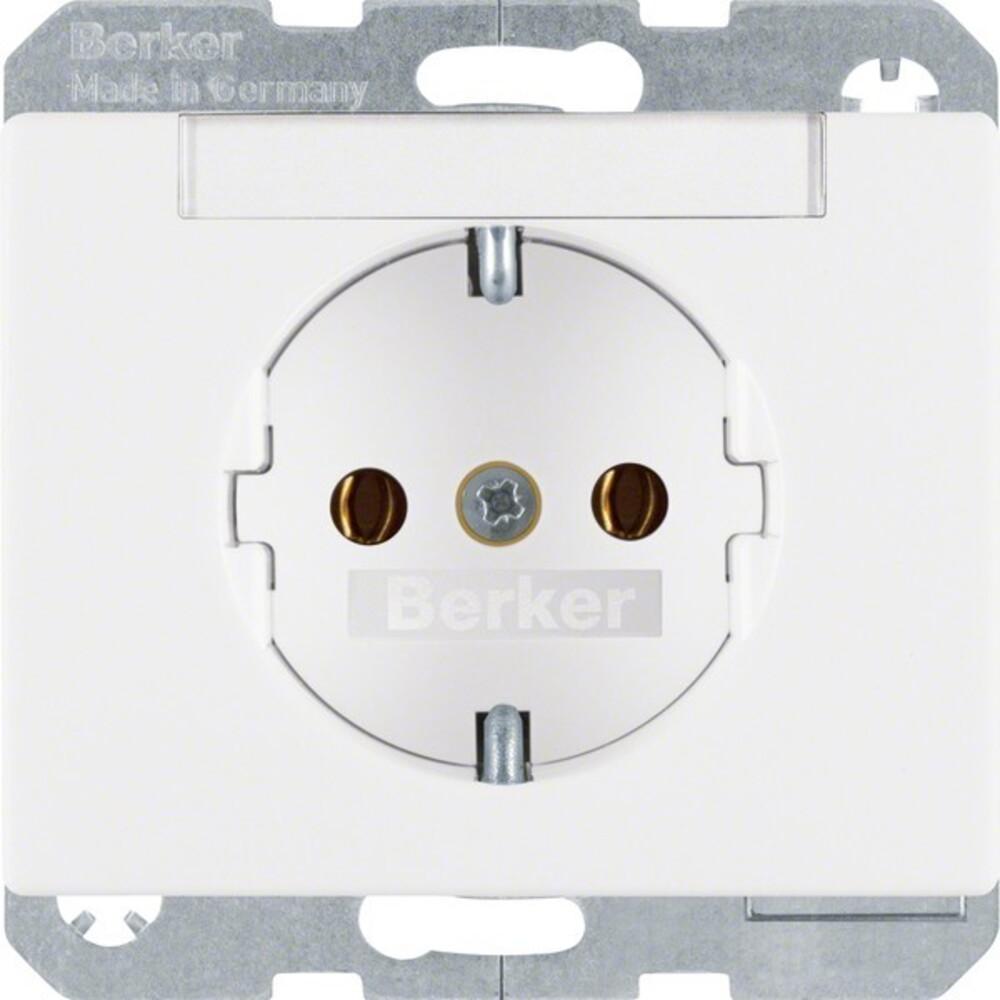 Berker Steckdose pws/gl m.Beschriftungsfeld 47390069