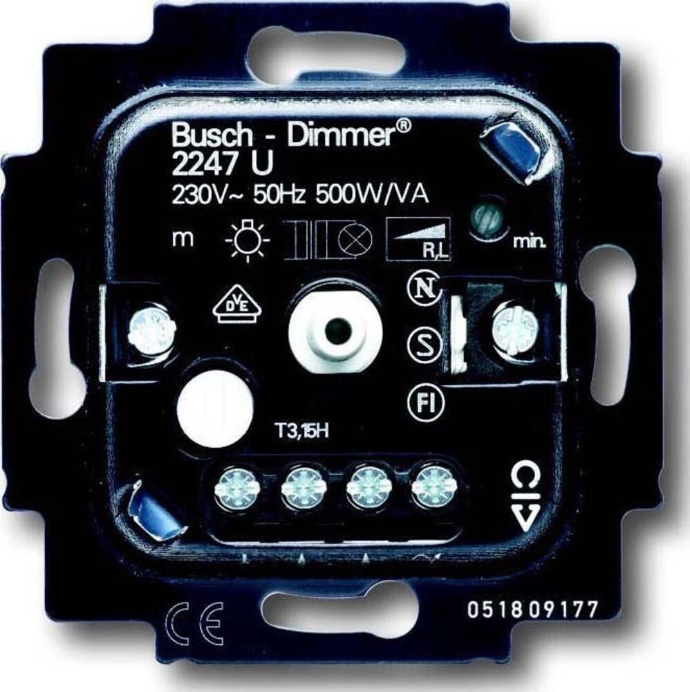busch jaeger dimmer einsatz 2247 u elektroartikel online shop. Black Bedroom Furniture Sets. Home Design Ideas