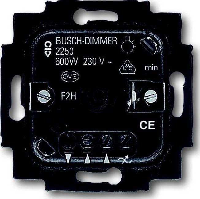 busch jaeger dimmer einsatz 2250 u. Black Bedroom Furniture Sets. Home Design Ideas