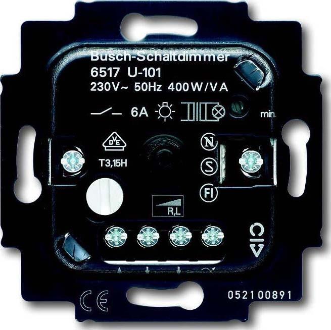 busch jaeger dimmer einsatz 6517 u 101 elektroartikel online shop. Black Bedroom Furniture Sets. Home Design Ideas