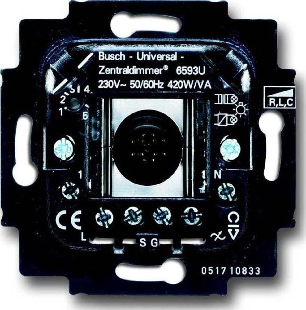 busch jaeger dimmer einsatz 6593 u elektroartikel online shop. Black Bedroom Furniture Sets. Home Design Ideas