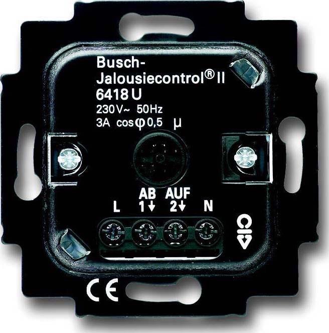 busch jaeger jalousie basis einsatz 6418 u elektro4000. Black Bedroom Furniture Sets. Home Design Ideas