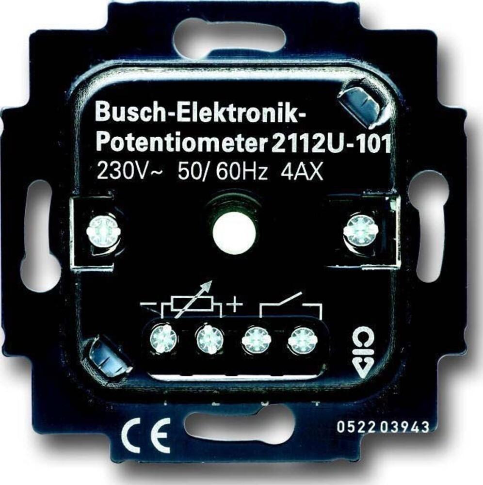 busch jaeger potentiometer einsatz 2112 u 101 elektroartikel online shop. Black Bedroom Furniture Sets. Home Design Ideas