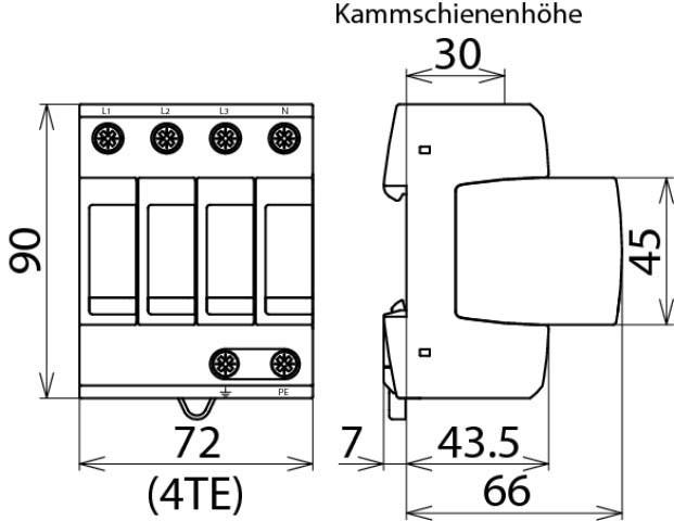 Dehn+Söhne ÜS-Ableiter DEHNguard 230//400V,IP20,Typ2 DG M TNS 275