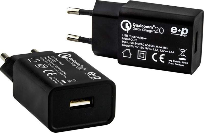 E+P Elektrik USB Ladegerät AC102 ws