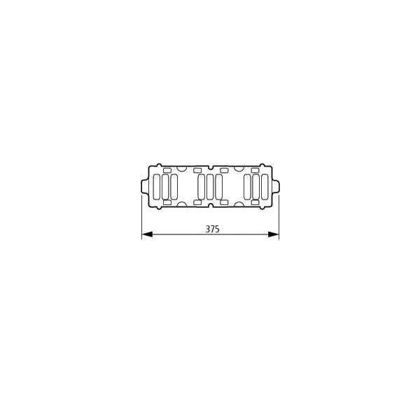 Wöhner Schienenträger 3pol 01 495 Sammelschienenträger 01495 Schienenträger