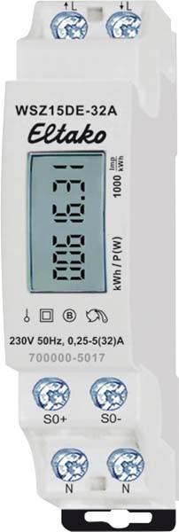 5 A 25 Elektrizit/ätsz/ähler 4048652012800 NZR Wechselstromz/ähler EcoCount WSD 25 1x230 V
