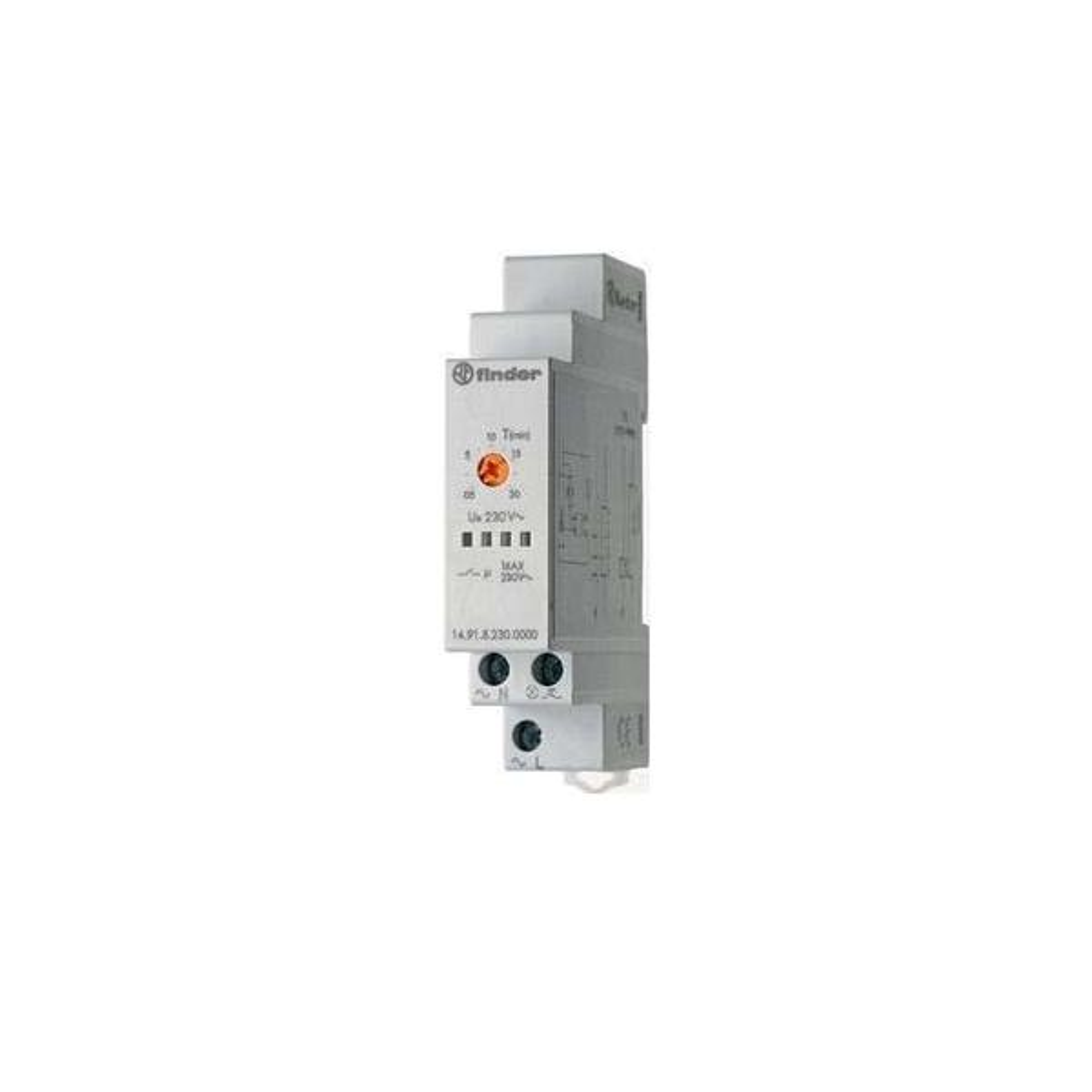 14.01.8.230.0000 230V Finder Treppenhaus Lichtautomat Multifunktion 8 Prog