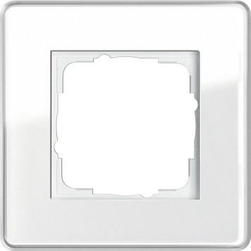 gira abdeckrahmen 1fach esprit glas c ws 0211512 ebay. Black Bedroom Furniture Sets. Home Design Ideas
