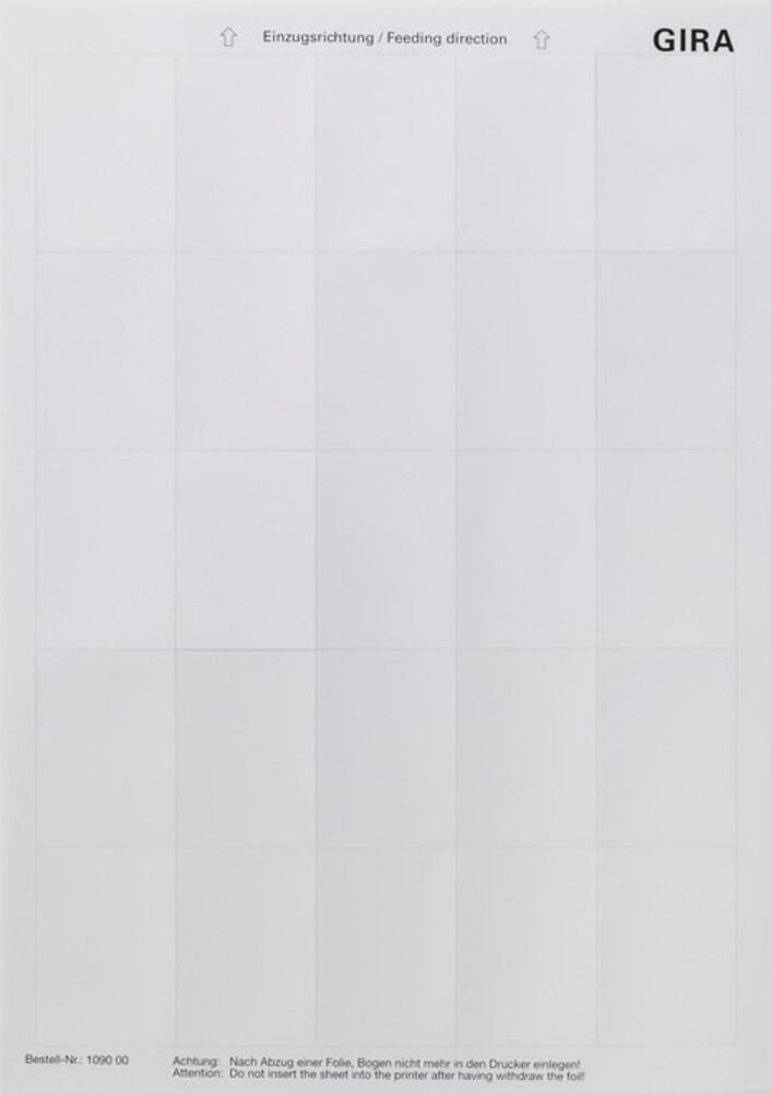 gira beschriftungsbogen 109000 elektroartikel online shop. Black Bedroom Furniture Sets. Home Design Ideas