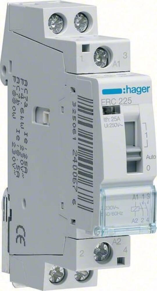 Hager Installationsrelais 16A 2S 8/12V ERL216