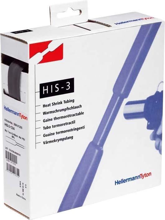 HellermannTyton Schrumpfschlauch sw 3=1 L=3m HIS-3-24/8-PEX-BK