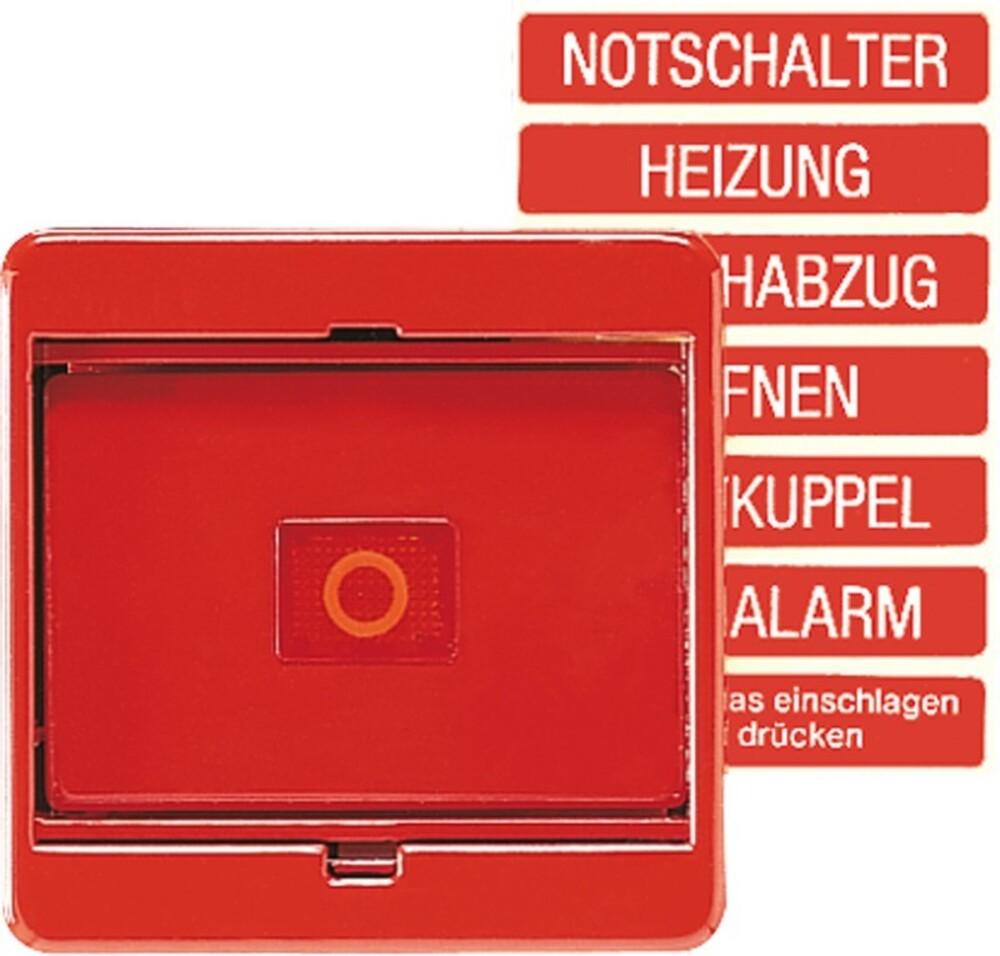 Jung Abdeckung Glasscheibe rt für Schalter/Taster 561 GL RT