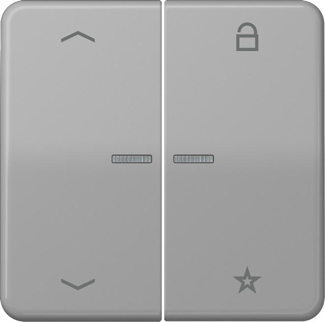 Jung Steuertaste Universal CD 1701 P GR grau CD1701PGR Kunststoff Steuertaste | Kompletter Spezifikationsbereich