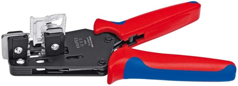 KNIPEX 12 12 11 Präzisions-Abisolierzange mit Formmessern brüniert 195 mm