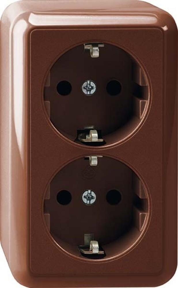 merten schuko doppel steckdose meg2421 8717 elektroartikel online shop. Black Bedroom Furniture Sets. Home Design Ideas