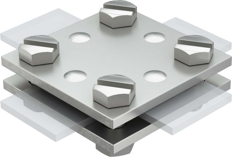 edelstahl kreuzverbinder metallteile verbinden. Black Bedroom Furniture Sets. Home Design Ideas