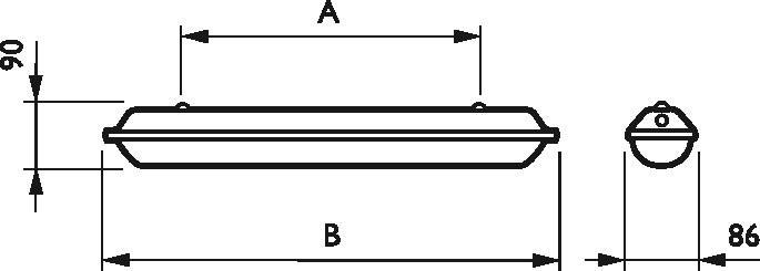 Signify PLS Feuchtraum-Wannenleuchte TCW060 #81379099 IP65 Tcw060