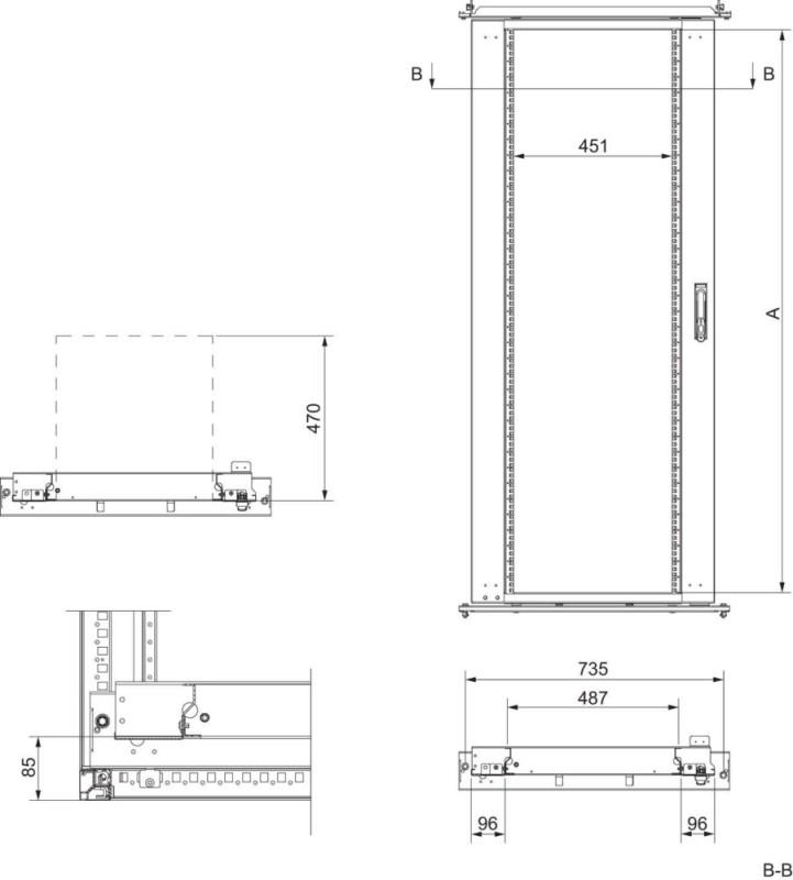 Schneider Electric 19 Zoll-Rahmen SF/SM NSYRSW40 - Elektro4000.de ...