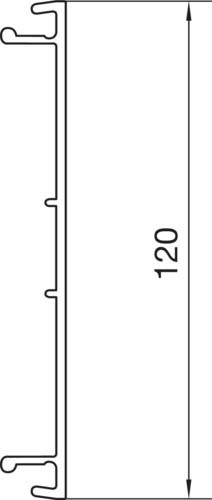 2 Meter Tehalit Brüstungskanal-OT BR 701702 rws reinweiß Oberteile BR7017029010