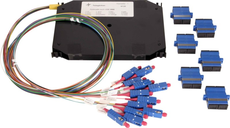 TELEG/ÄRTNER H02024A8105 LWL-Teilfrontplatte 6 x LC-Duplex