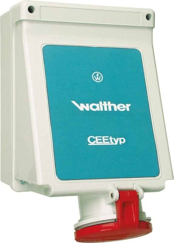 Walther 130306 Wandsteckdose 32A 3P 230V 6h IP44 Außenbefestigung