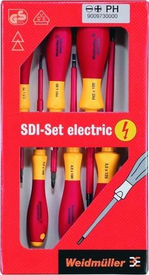 Weidmüller VDE-Schraubendreher-Satz SDIS 2,5-5,5 PH1 2 Werkzeugsets 9009730000 | Überlegene Qualität  | Einzigartig  | Elegante Form  | Geeignet für Farbe