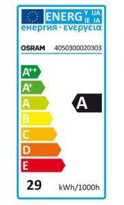 Osram LED Leuchtmittel - Beispiel Osram Energielabel