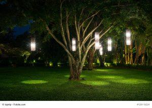 Außenlampen im Garten: es gibt zahlreiche kreative Lösungen