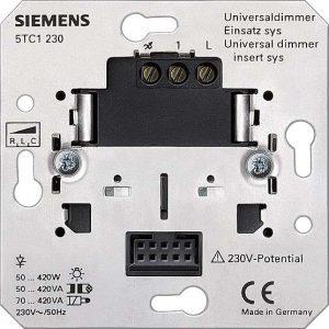 SIEMENS Universaldimmer - Die Elektronik von Universaldimmern erkennt die Lastcharakteristik von selbst und stellt die passende Ansteuermethode selbständig ein.
