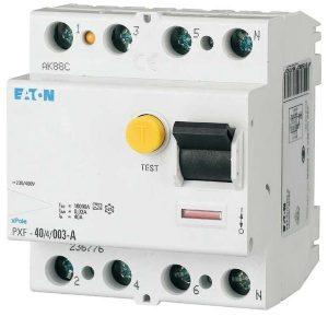 FI-Schalter des Typs A mit gelber Prüftaste